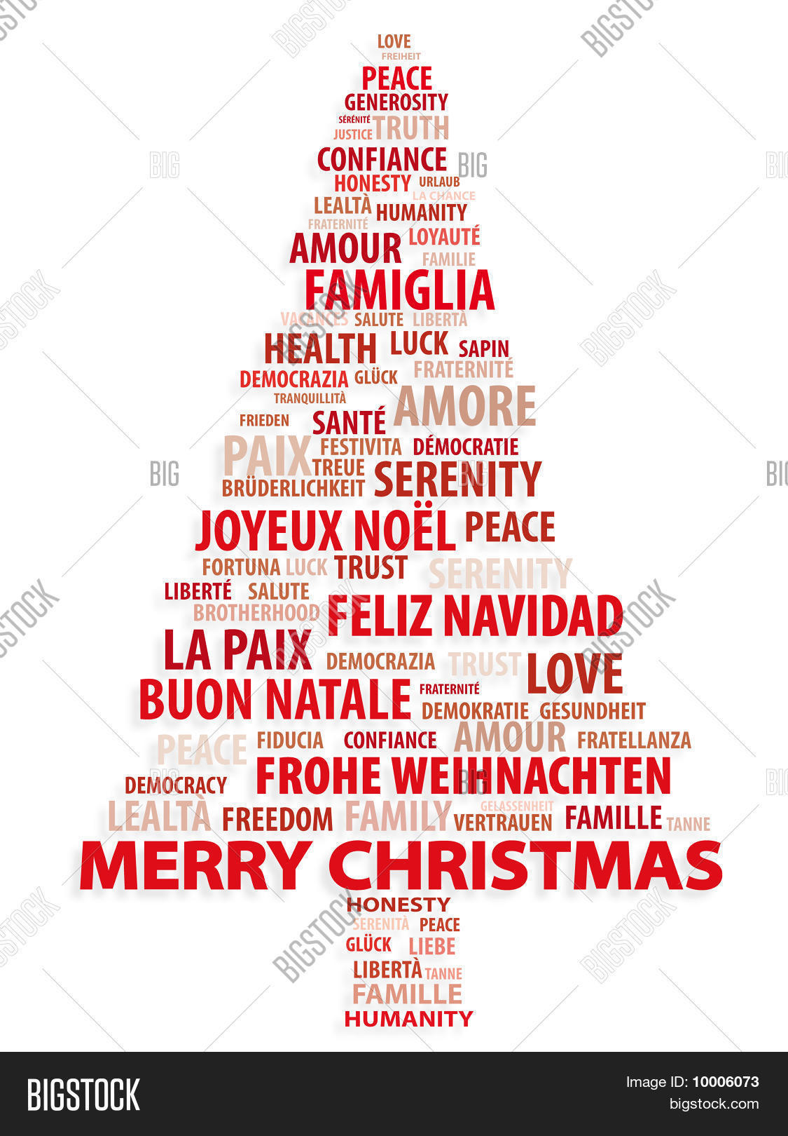 Merry Christmas In Different Languages.Merry Christmas 10 Vector Photo Free Trial Bigstock