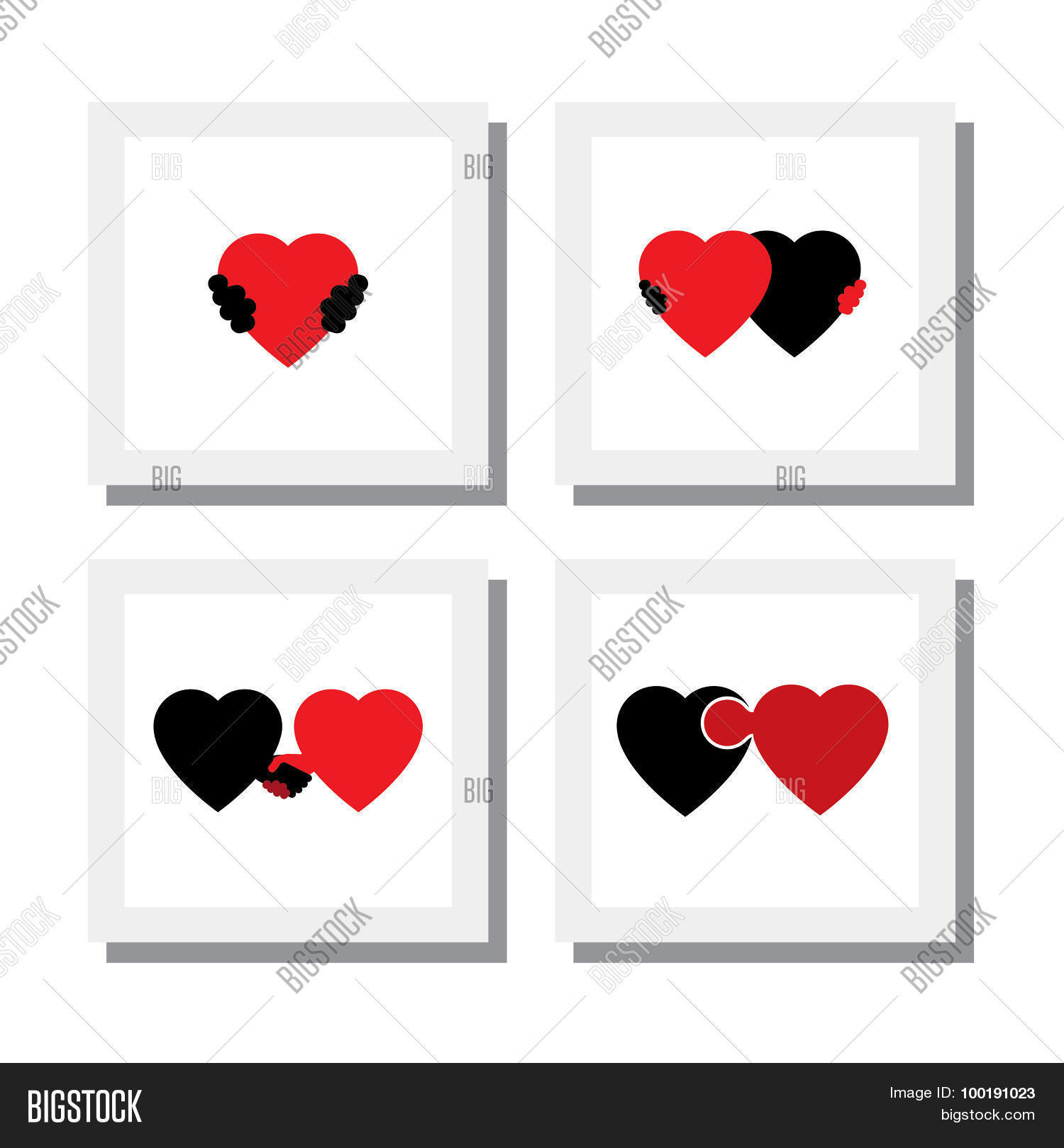 Set Heart Love Vector Photo Free Trial Bigstock