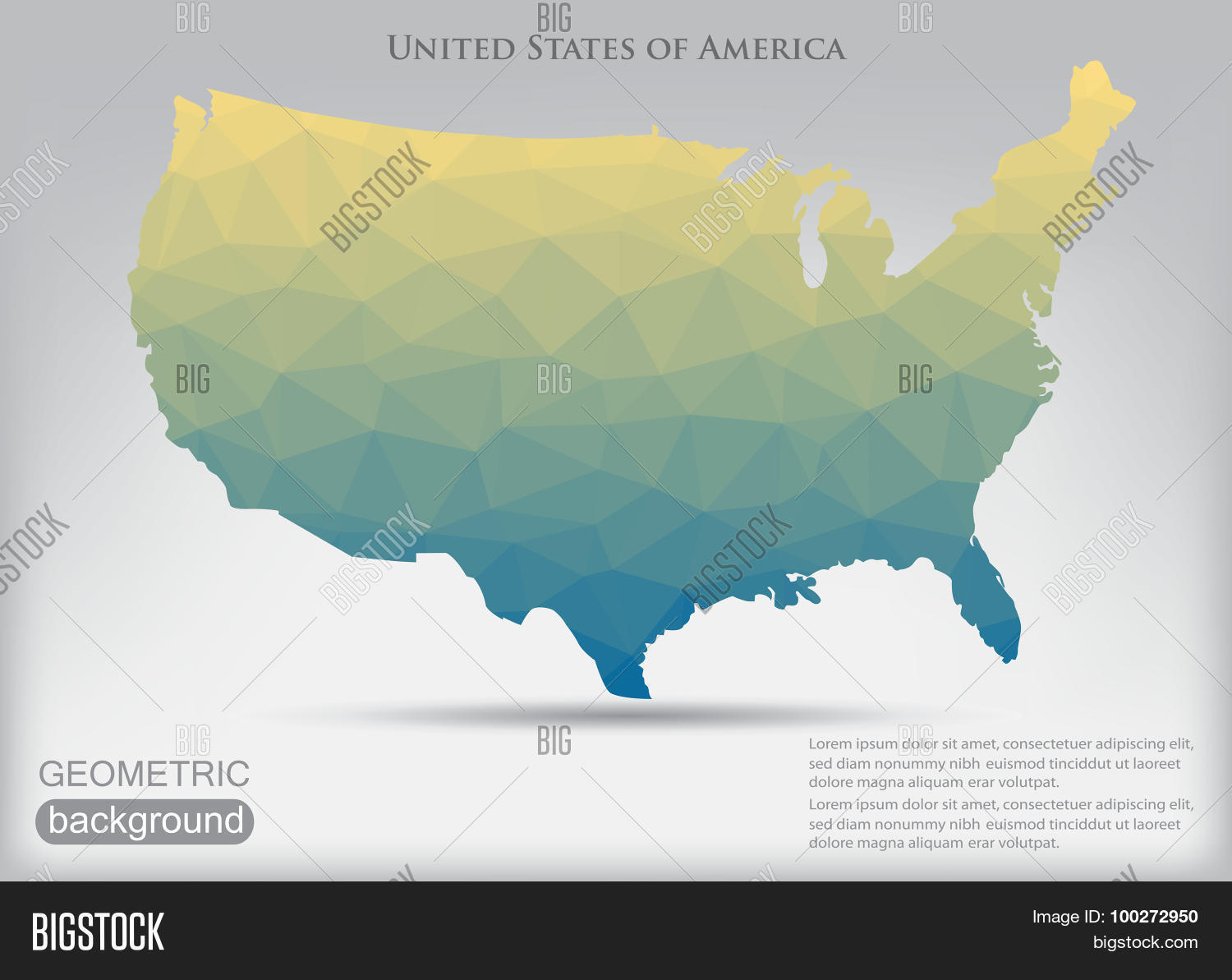 Poly USA Map Vector & Photo (Free Trial)   Bigstock