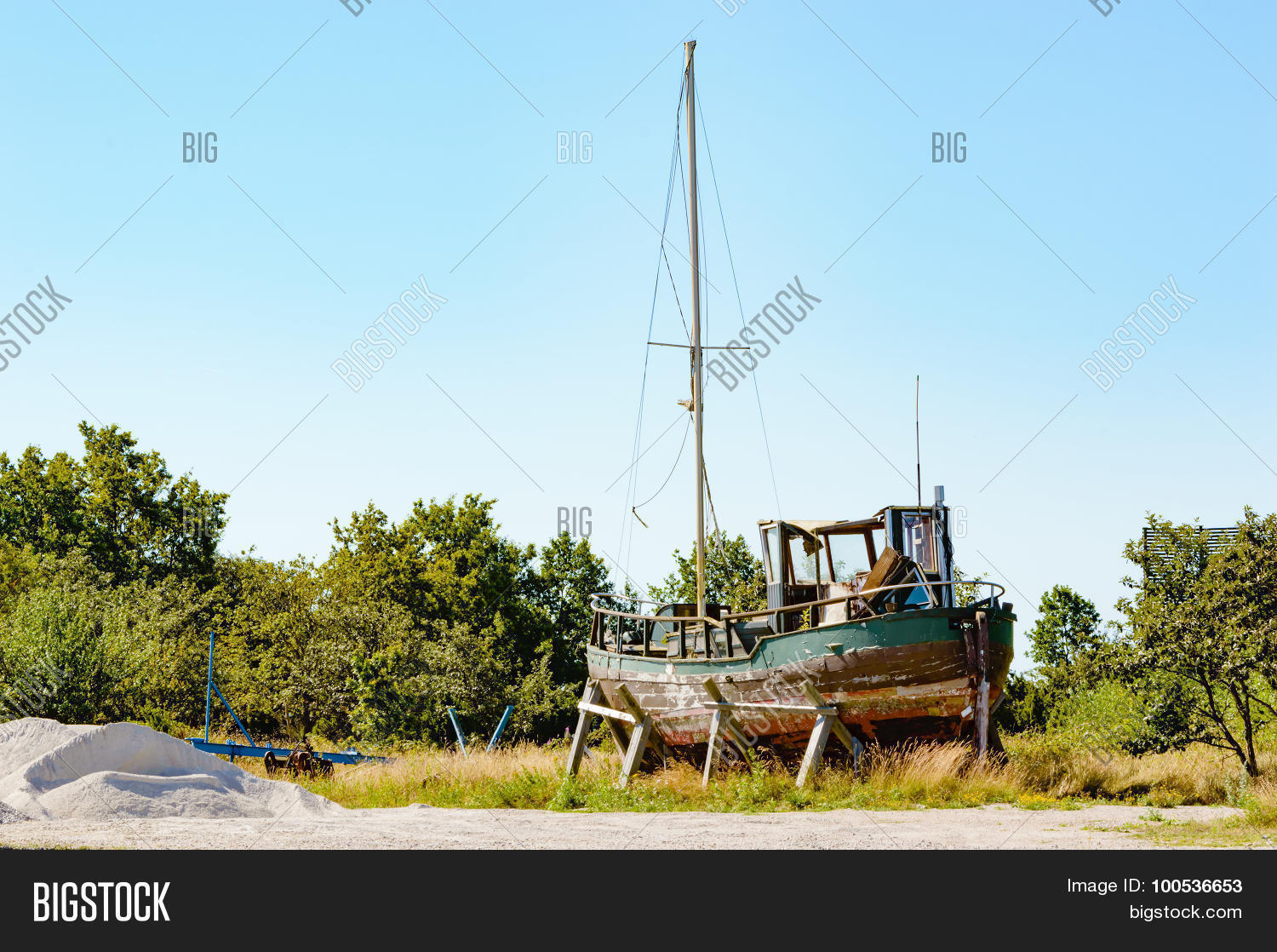 Old Fishing Boat Image Photo Free Trial Bigstock