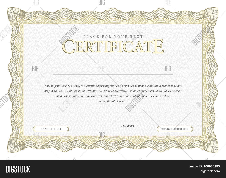 Vintage Certificate Vector Photo Free Trial Bigstock