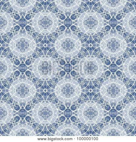 Seamless Calligraphy Pattern in white and blue.