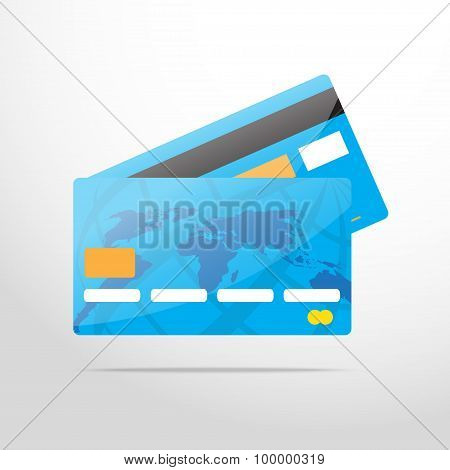 bank card web flat icon