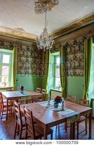 Interior Of Elegant And Old Restaurant, Hdr