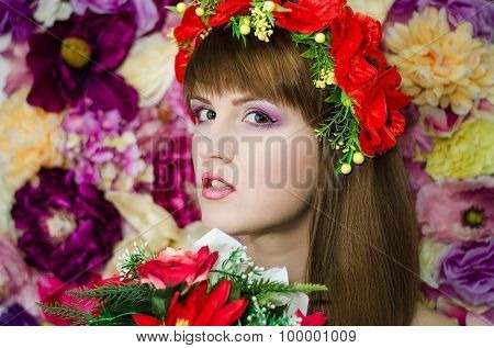 Flower beauty girls