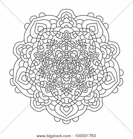 Mandala is a circular symmetric pattern