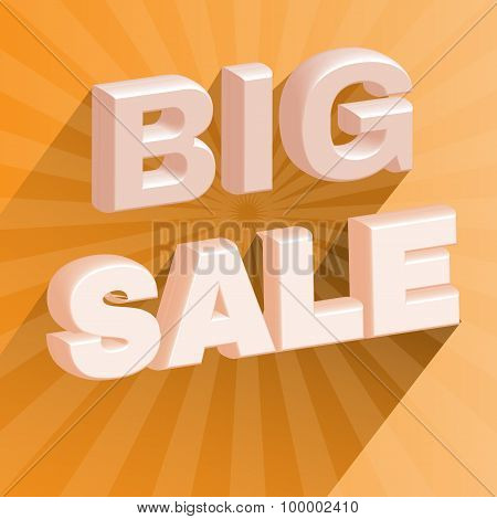 Big Sale 3D Promotion Flyer.