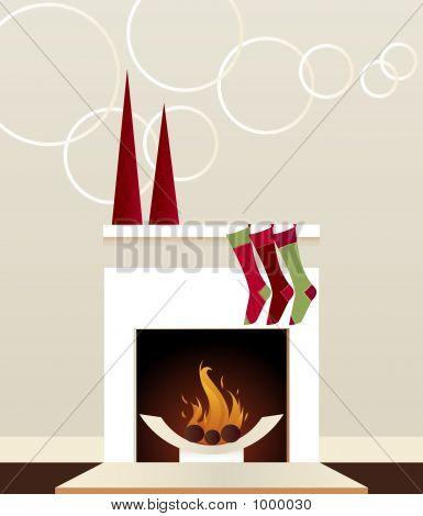 Modern Holiday Fireplace