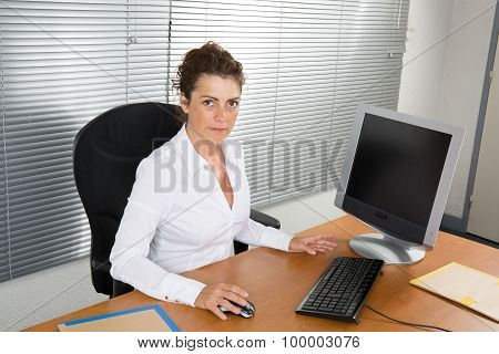 Business Girl looking at the camera