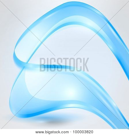 Abstract waving blue background