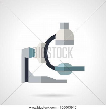 Diagnostic equipment flat vector icon