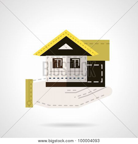 Sale of house flat vector icon