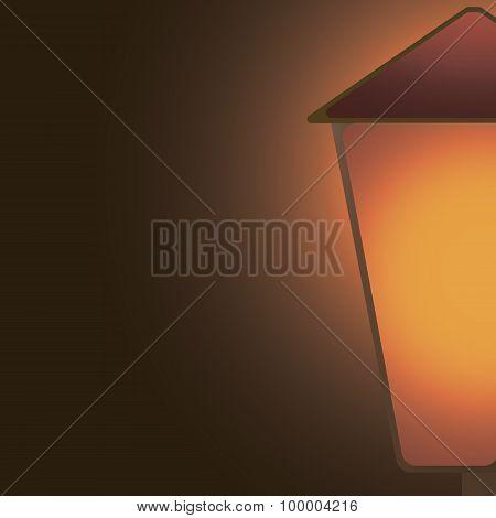 lantern shining in the dark Right