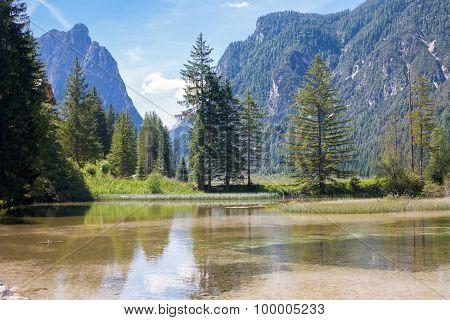 Creek At Lake Dobbiaco