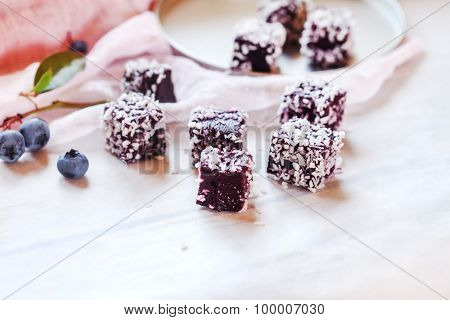 homemade berry gelatin dessert