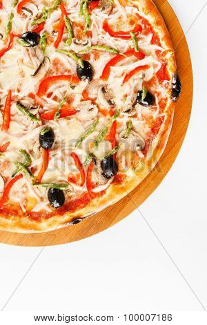 pizza isolated on the white