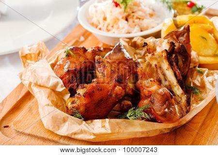 eisbein with braised cabbage