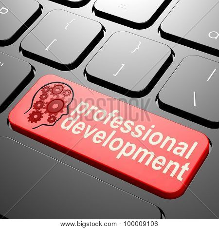 Keyboard With Professional Development Text