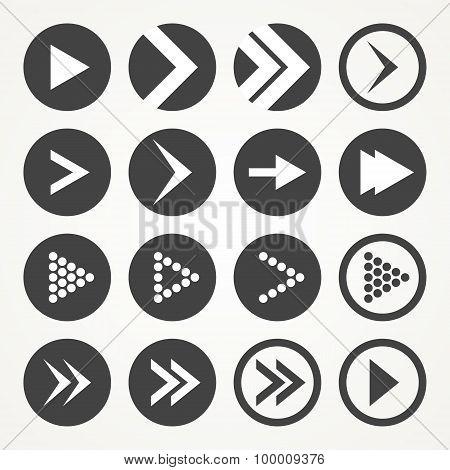 Arrow sign icon set. Vector