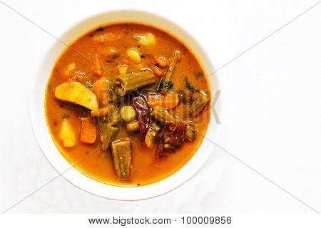 Sambar - South indian dal curry with vegetables