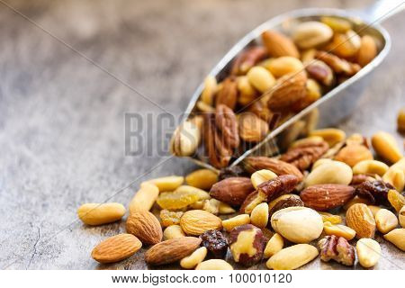 Mixed nuts healthy food