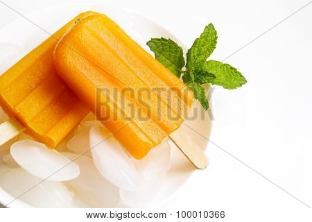 Orange Popsicle on a stick for summer fun