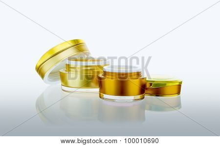 Skincare Spa Or Cosmetic Product On White Background