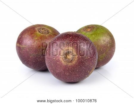 Flacourtia Fruit On White Background