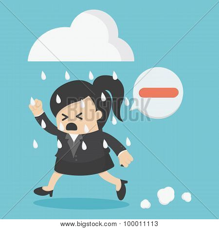Business Woman People Negative Thinking