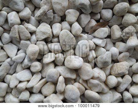 White pebble in the beach