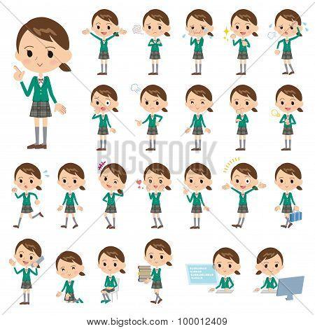 School Girl Green Blazer