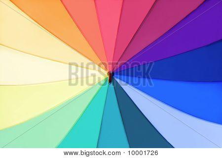 Rainbow Multicolored Umbrella