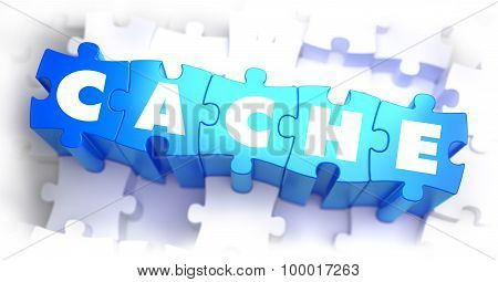 Cache - White Word on Blue Puzzles.