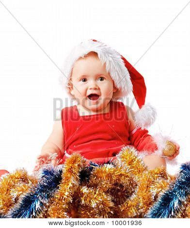 Baby In Santa Claus Hat