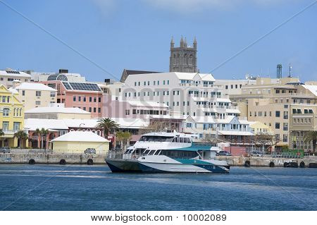Bermuda Ferry And Hamilton Waterfront