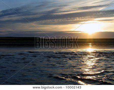 Sundown On Wild River