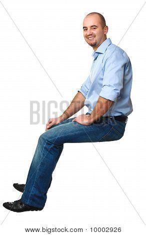 Sit Caucasian Man