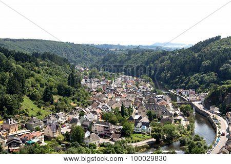 View over the city Vianden.