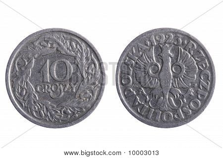 Poland Coins Isolated On White