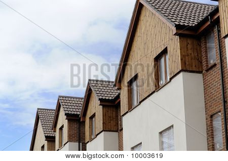 House Roofs And Fronts