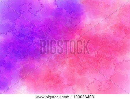 Purple watercolor effect vector background