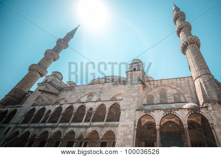 View of the majestic BLue Mosque, Istanbul, Turkey.