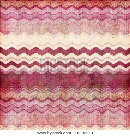 Pink, bordo and white  wavy stripes