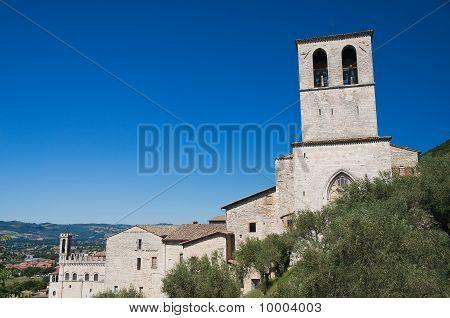 Panoramic view of Gubbio. Umbria.