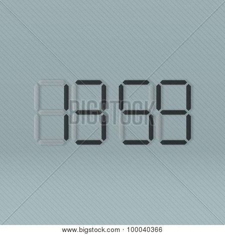 Black digital Clock