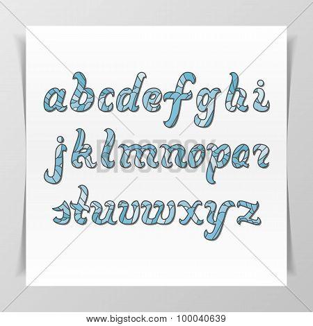 Original handwritten Latin Alphabet