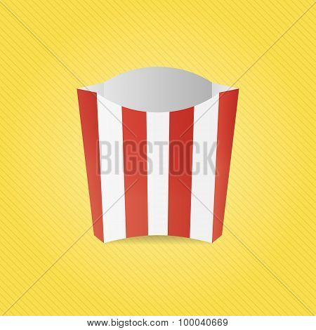 Realistic French Fries Paper Box