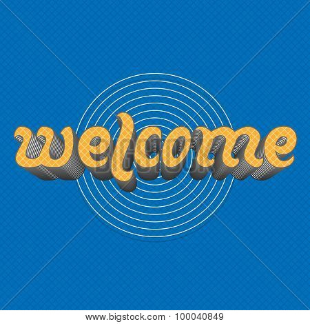 Welcome - hand Lettering Text