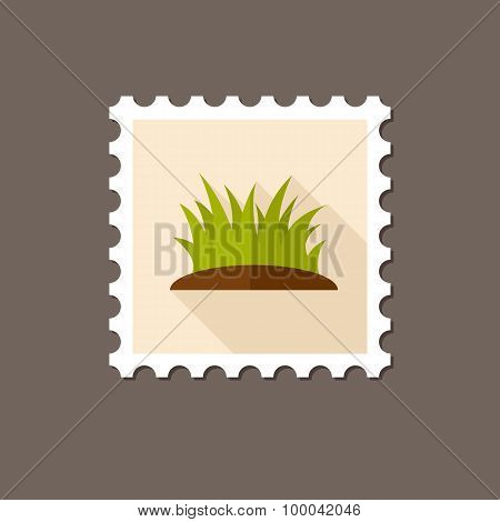 Grass Flat Stamp With Long Shadow