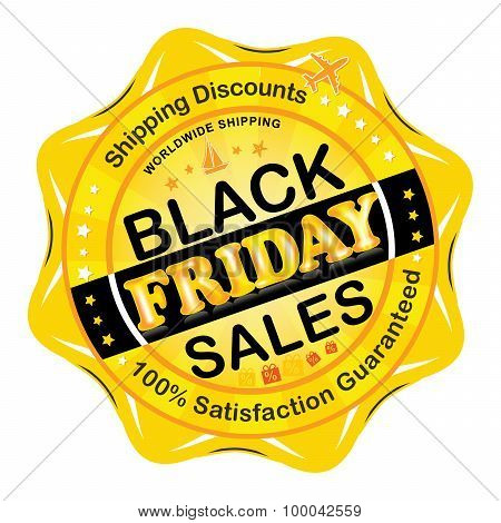 Black Friday Sales vector stamp / badge